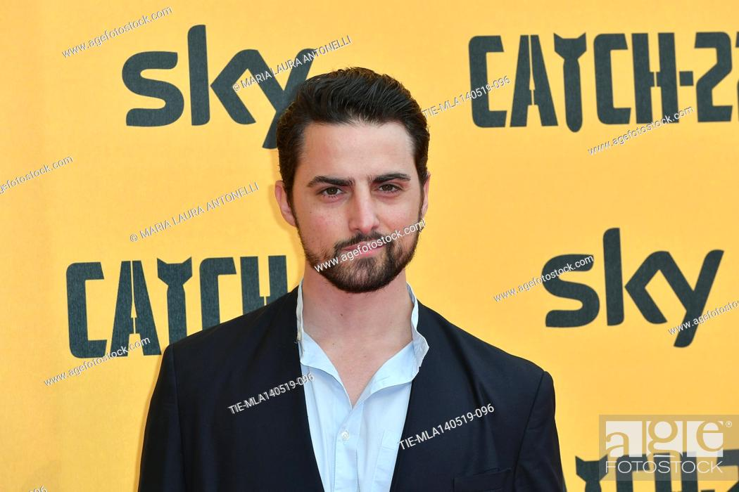 Stock Photo: Roberto Oliveri during the Red carpet for the Premiere of film tv Catch-22, Rome, ITALY-13-05-2019.