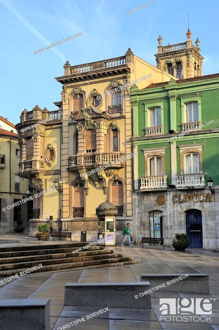 Imagen: Spain, Asturias, Aviles, Calle Galiana.