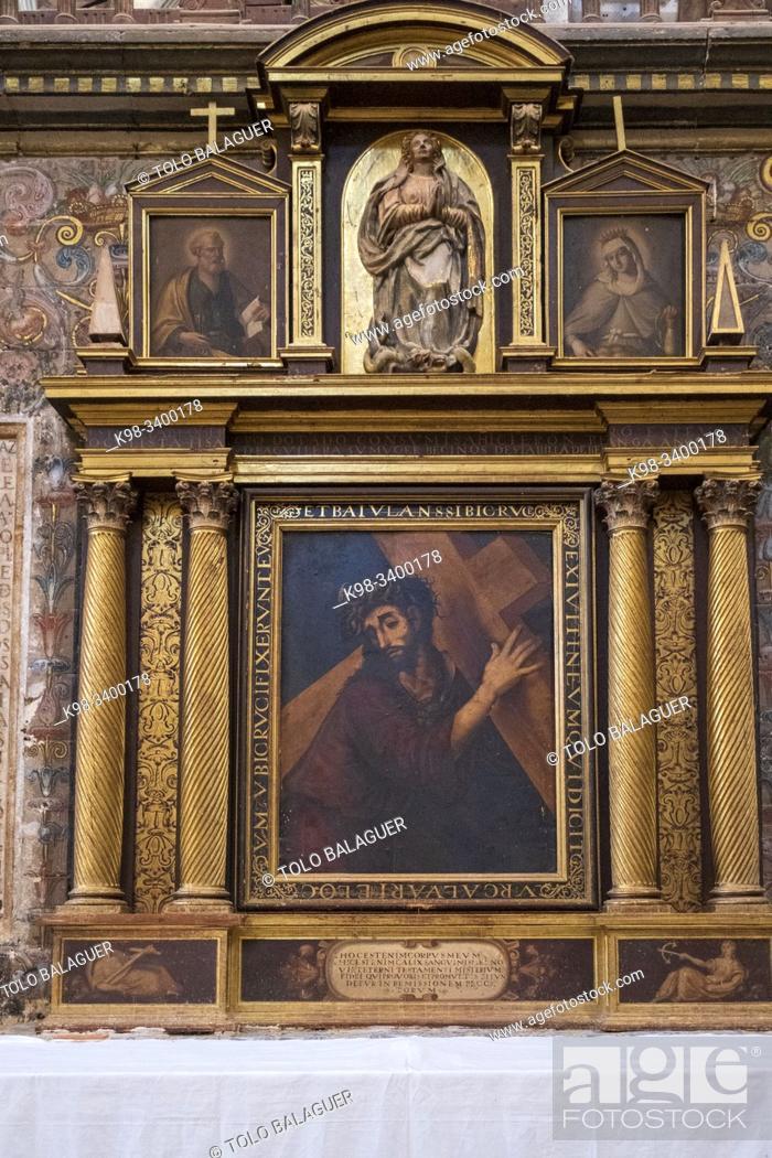 Imagen: Señor con la Cruz a cuestas, escuela italiana, siglo XVI, colegiata de Santa María del Mercado, Gótico-renacentista, construída entre 1526-1530.