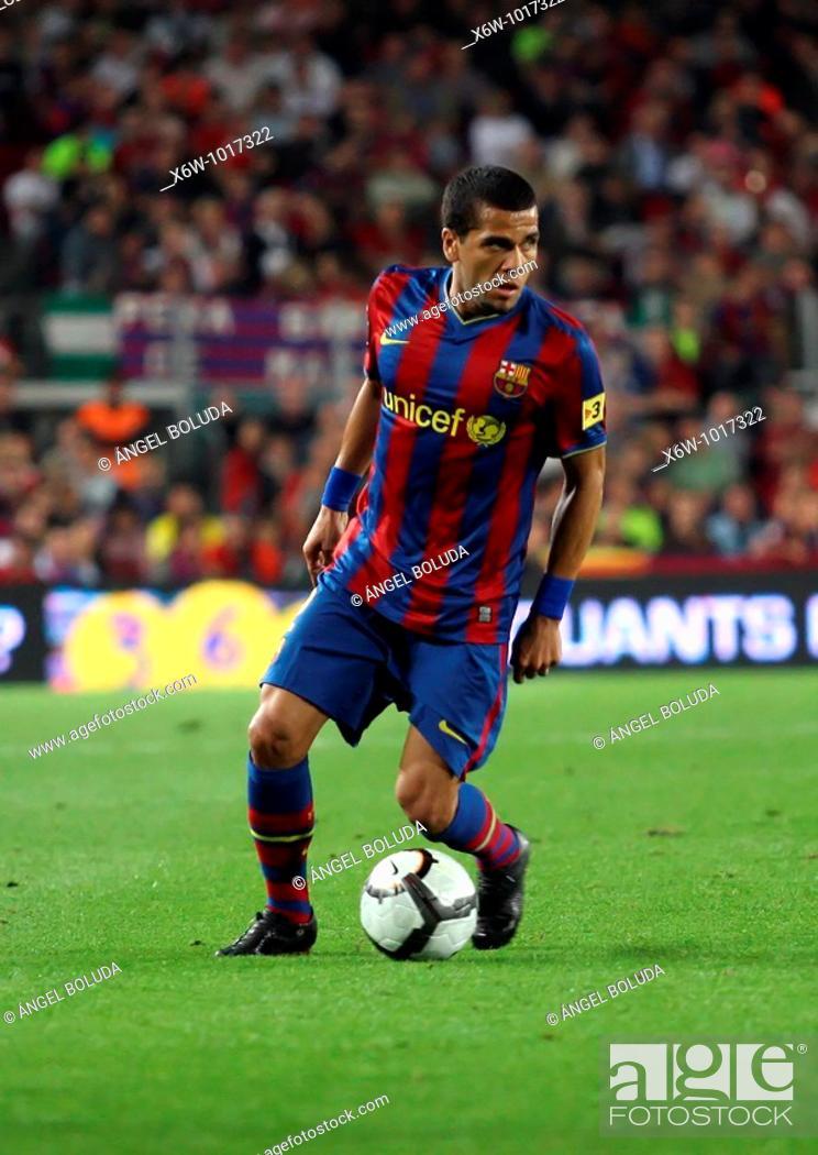 Stock Photo: Dani Alves, Brazilian footballer, FC Barcelona, 20009.