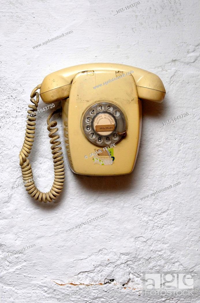 Stock Photo: Old telephone.