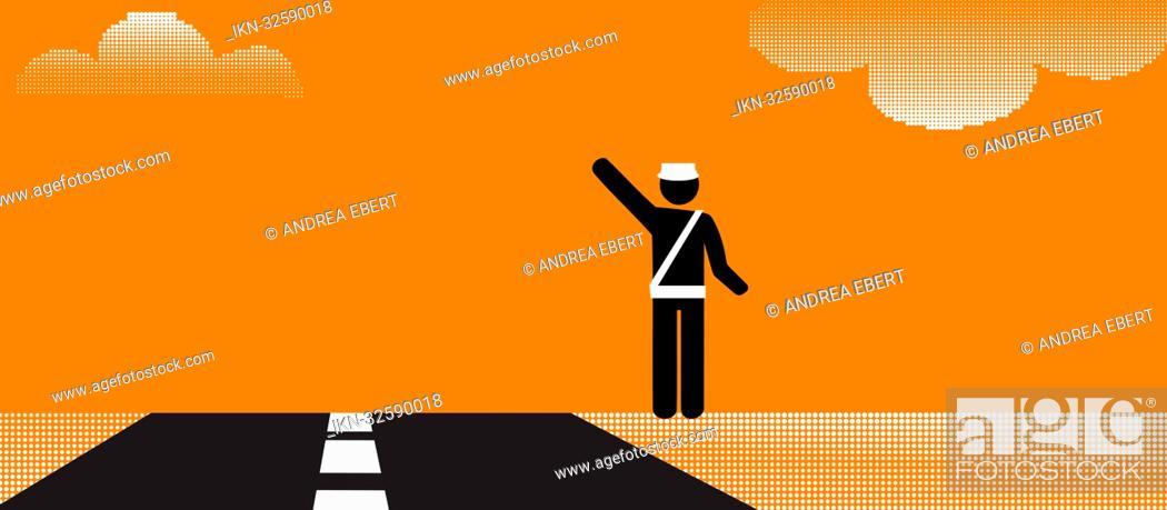 Imagen: Pictogram of a highway patrol officer.