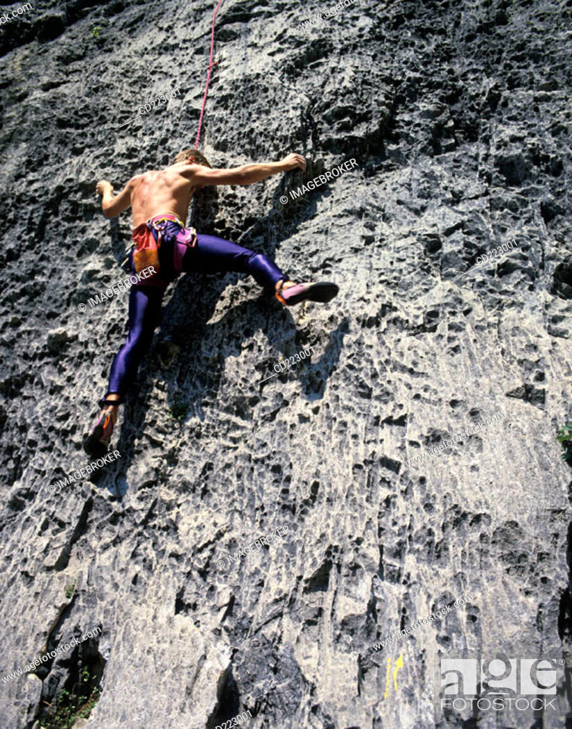 Stock Photo: Climber, Arco near Lake Garda, Trento, Italy.