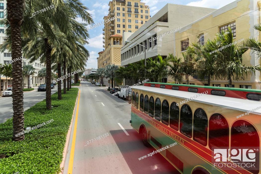 Stock Photo: Coral Gables, Miami, Florida, USA.