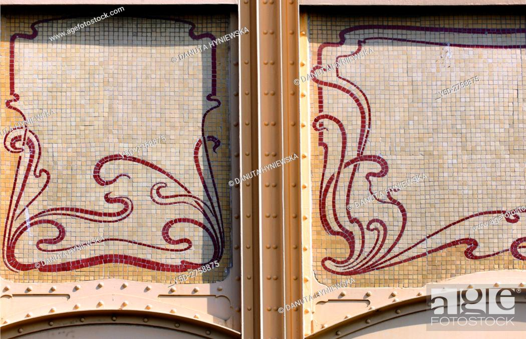 Stock Photo: architectural detail - Town house designed in 1895 by Victor Horta for Edmond van Eetvelde, together with Hotel Tassel, Hotel Solvay and the own House and.