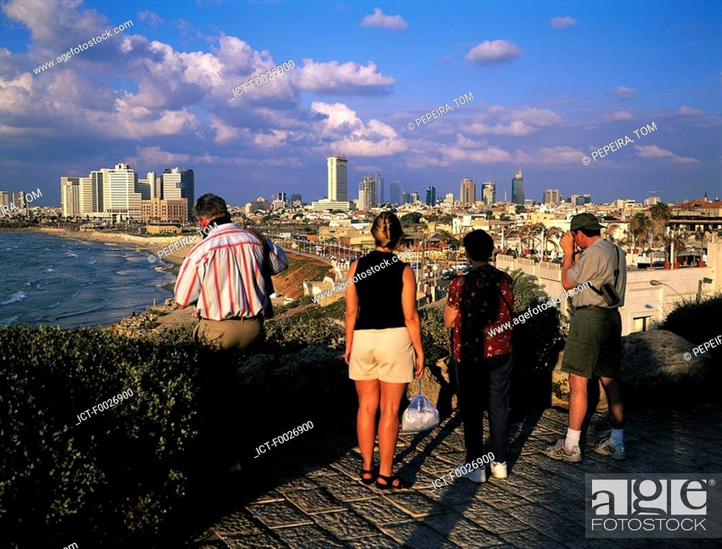 Stock Photo: Israel, Tel Aviv, view from Jaffa.