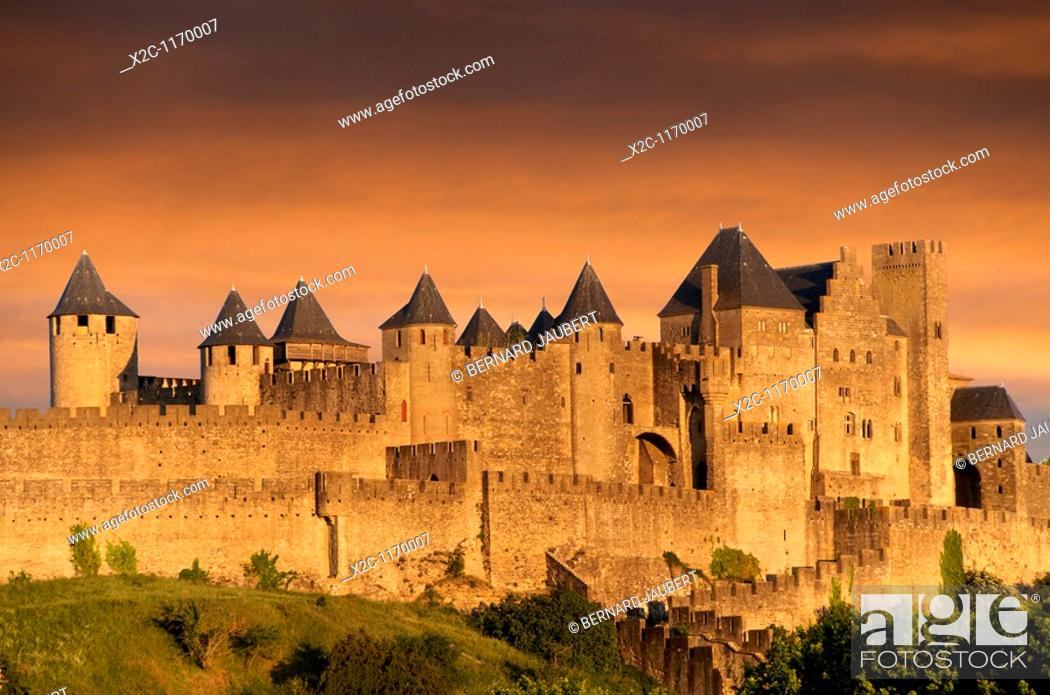 Stock Photo: The Castle of Carcassonne. Aude. France.