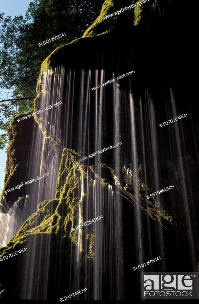 Stock Photo: Bavaria, bavaria, bavarian, Bavarian, canal, cascade, Europe.
