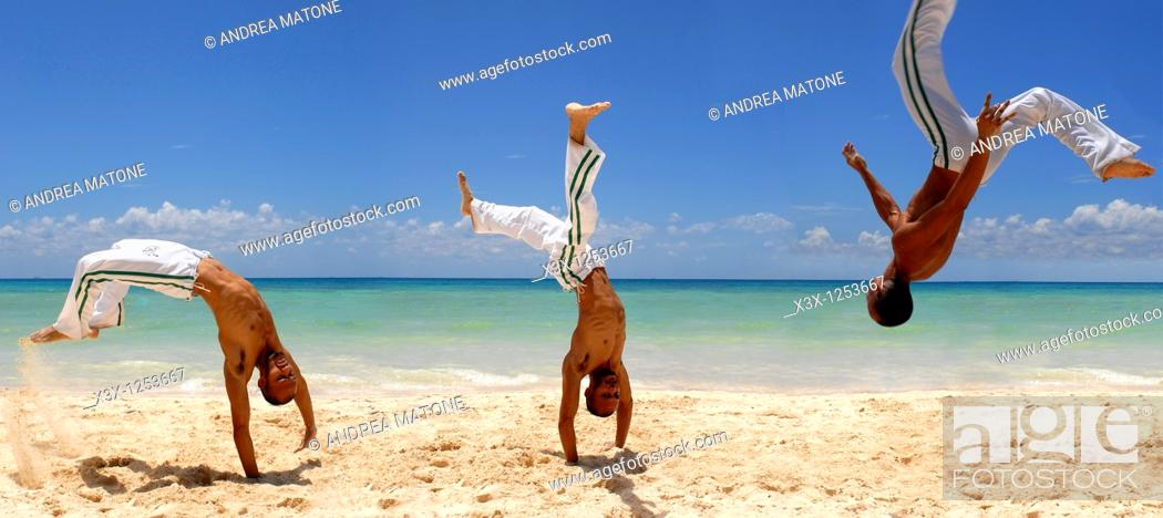 Stock Photo: Capoeira artwork.
