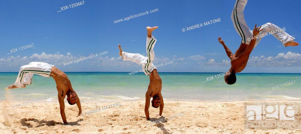 Stock Photo: Capoeira artwork.