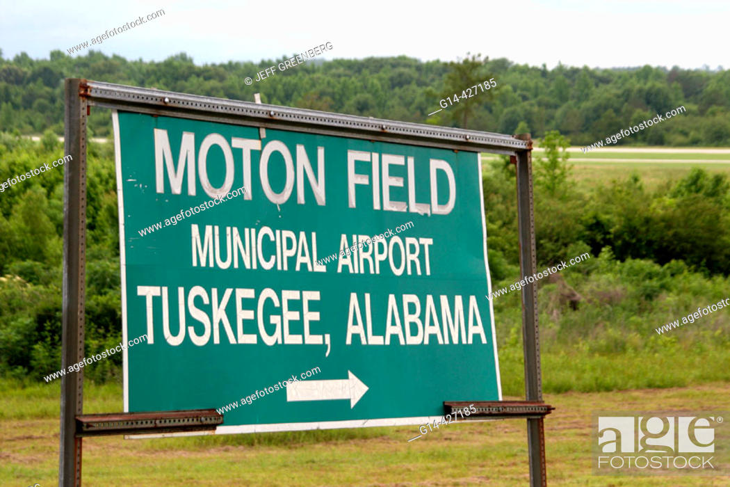 Stock Photo: Black history, World War II airmen, heroes. Moton Field, Tuskegee Airmen National Historic Site. Alabama. USA.