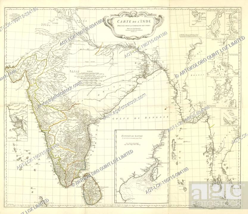 Map Of India And The Western Coastal Area Of Burma Siam And Malacca With 8 Side Cards Stock Photo Picture And Rights Managed Image Pic Aqt Lck 190715 034180 Agefotostock