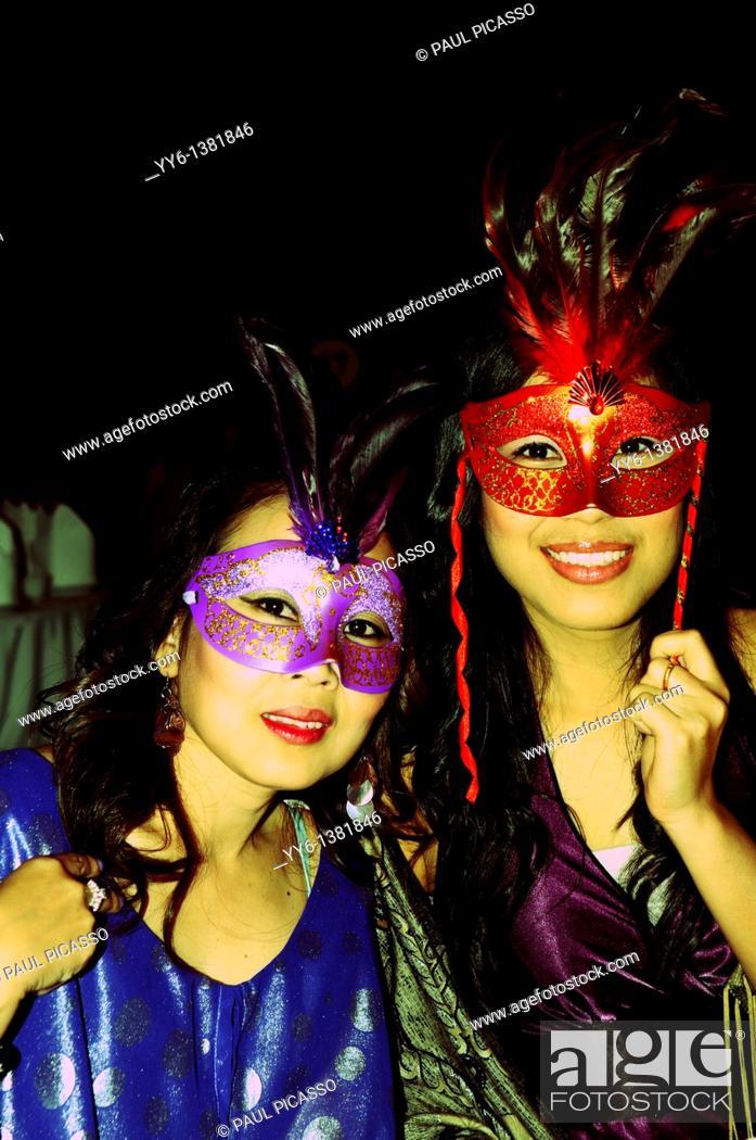 Stock Photo: Masquerade , bangkok mask party , the crazy ball of bangkok, thailand.