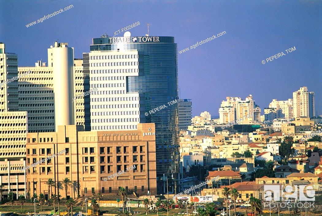 Stock Photo: Israel, overview of Tel Aviv.