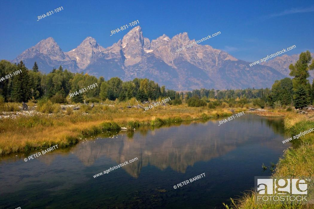 Stock Photo: Snake River at the Schwabacher Landing, Grand Teton National Park, Wyoming, United States of America, North America.