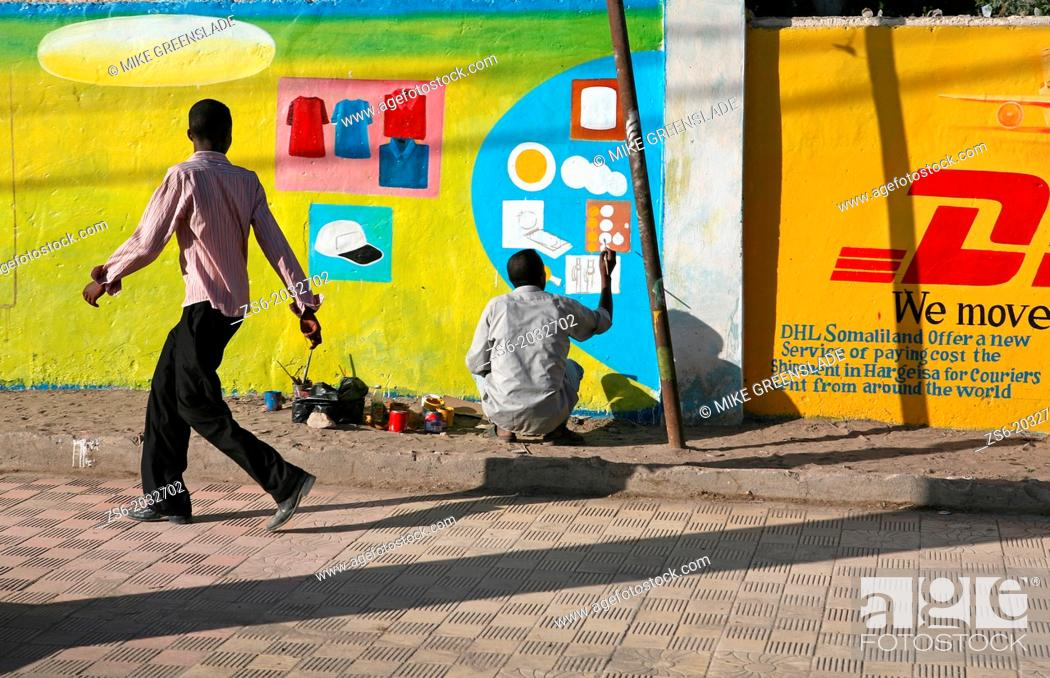 Imagen: Sign painter on the streets of Hargeisa, Somaliland.
