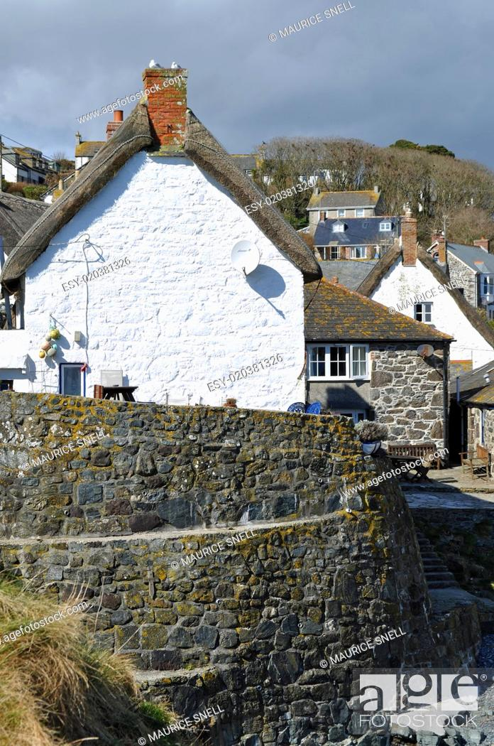 Stock Photo: Cadgwith Cove Cornwall.