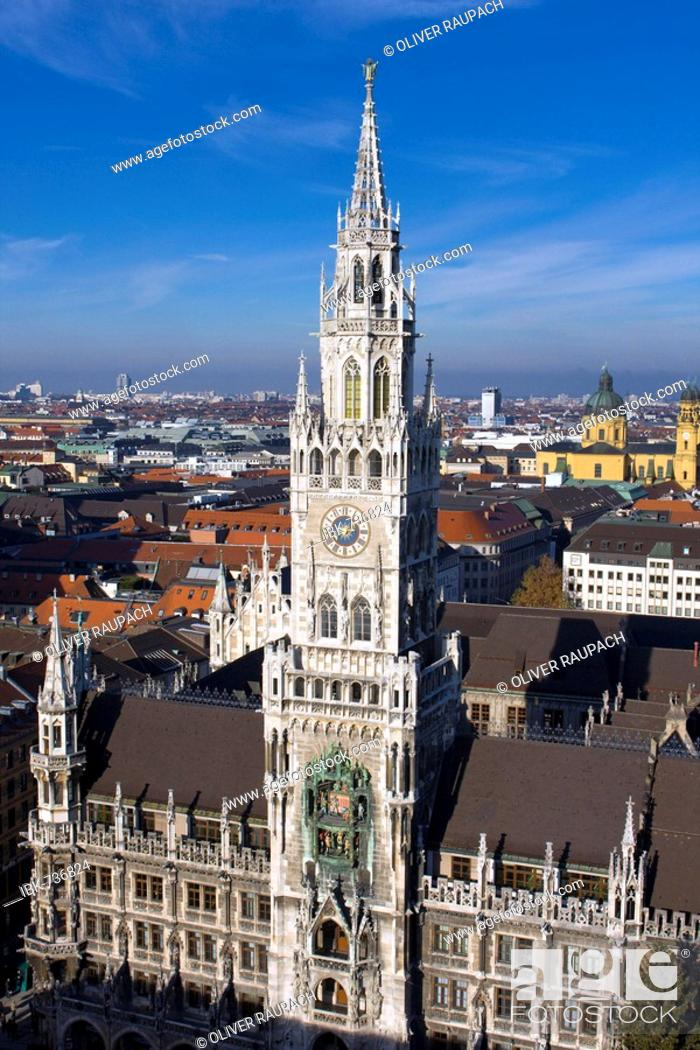 Stock Photo: City Hall in Munich, Bavaria, Germany, Europe.