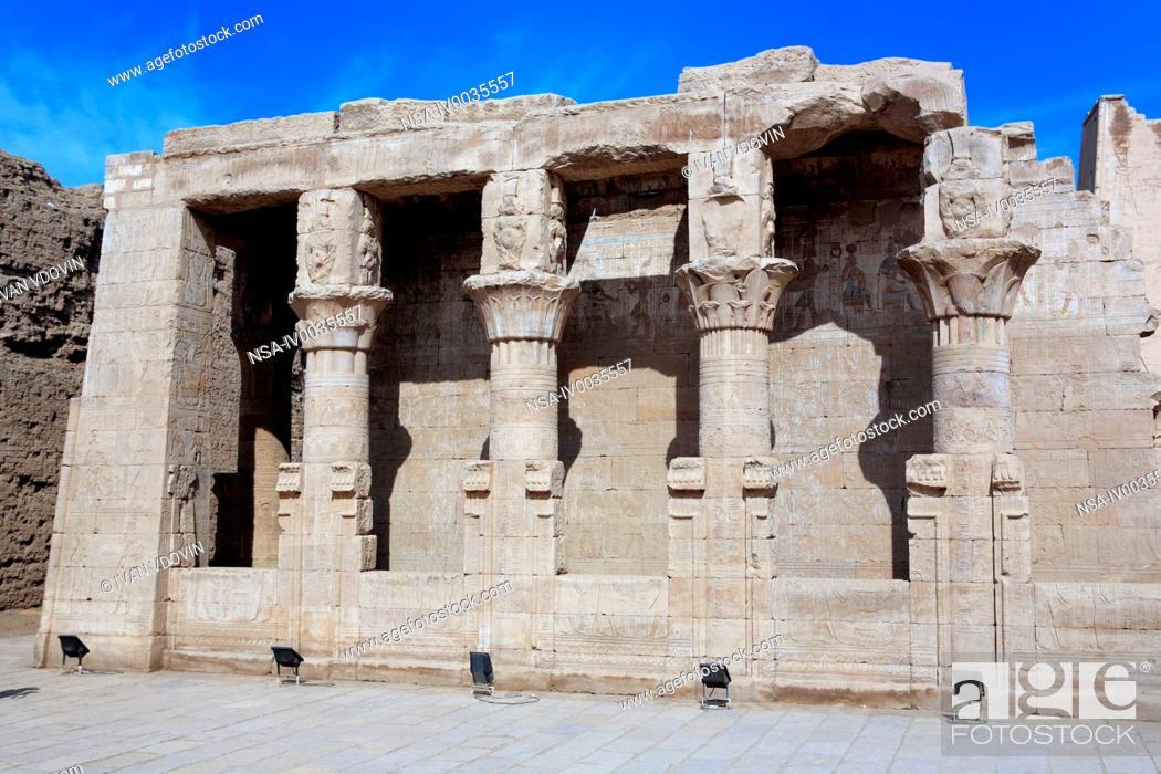 Stock Photo: Denderah mammisi birth house, Qena, Egypt.