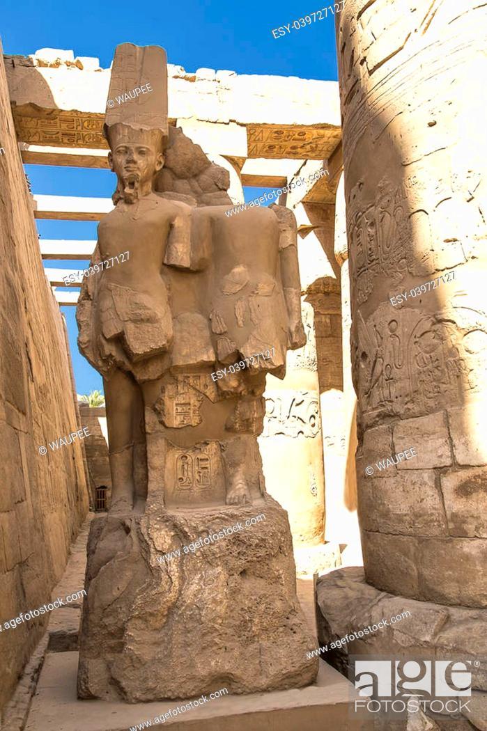 Stock Photo: Historic temple of Karnak in Luxor Egypt, Africa.