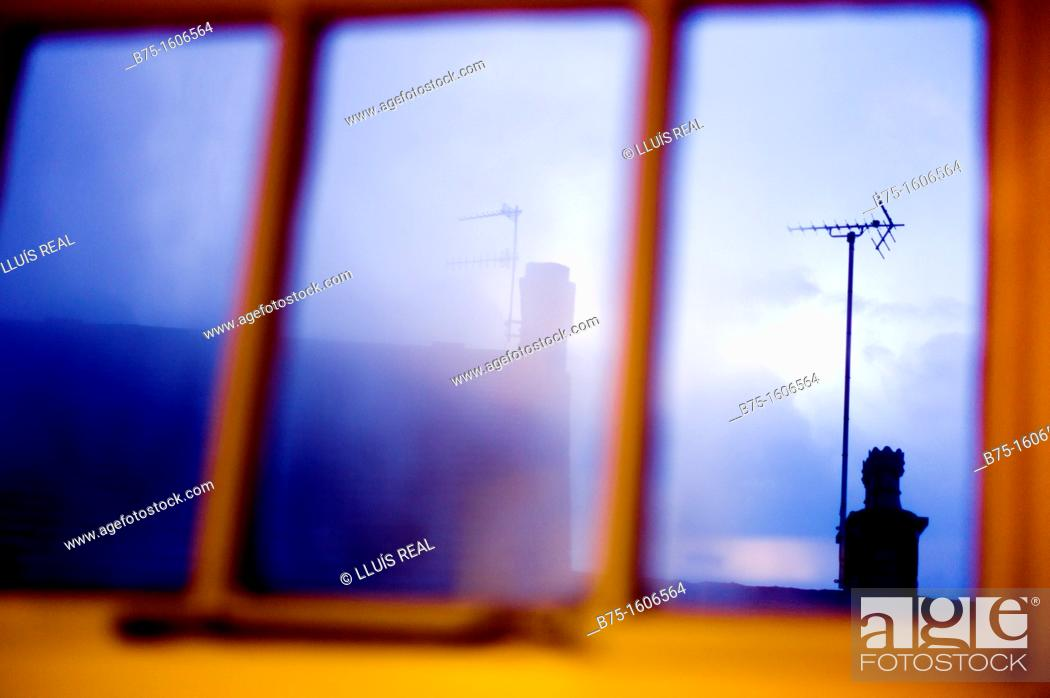 Stock Photo: Transparency through to window.