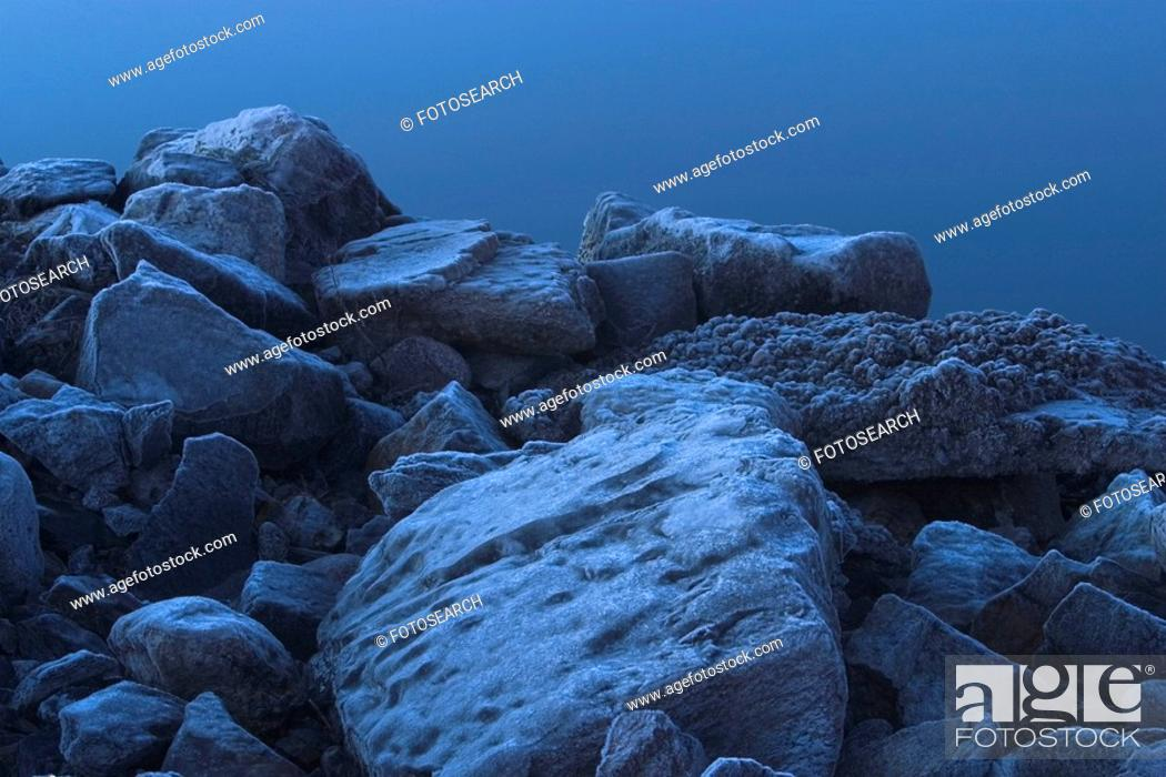 Stock Photo: surface, freezing, detail, background, remote, earth.
