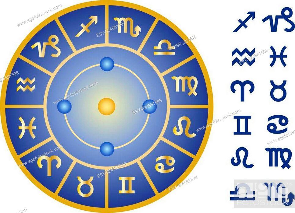 Vector: zodiac signs, vector icon set.