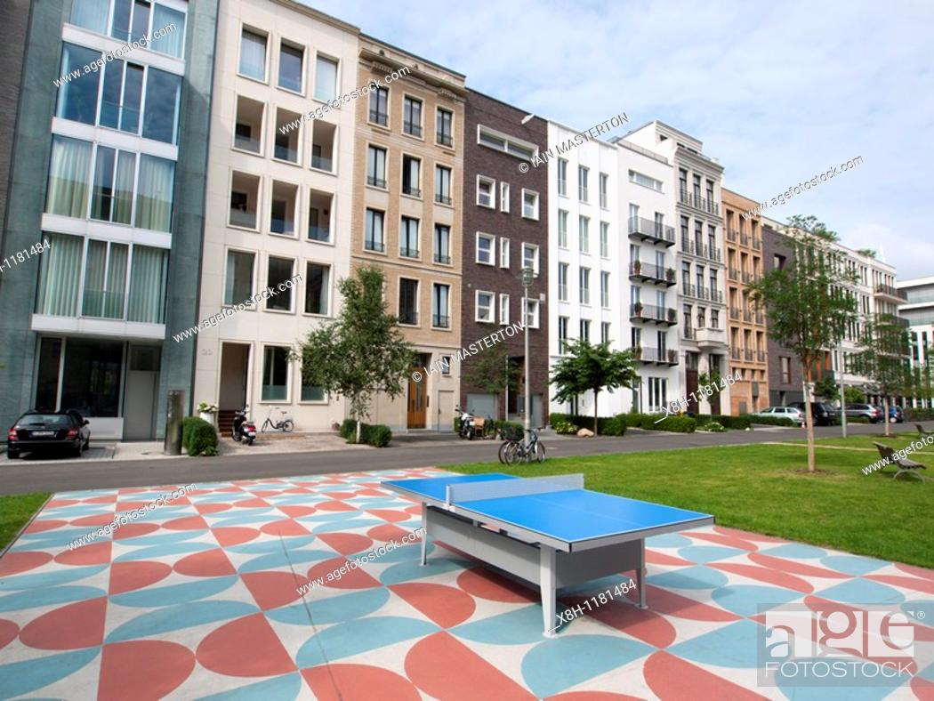 Stock Photo: New luxury townhouses in Mitte district of Berlin Germany.