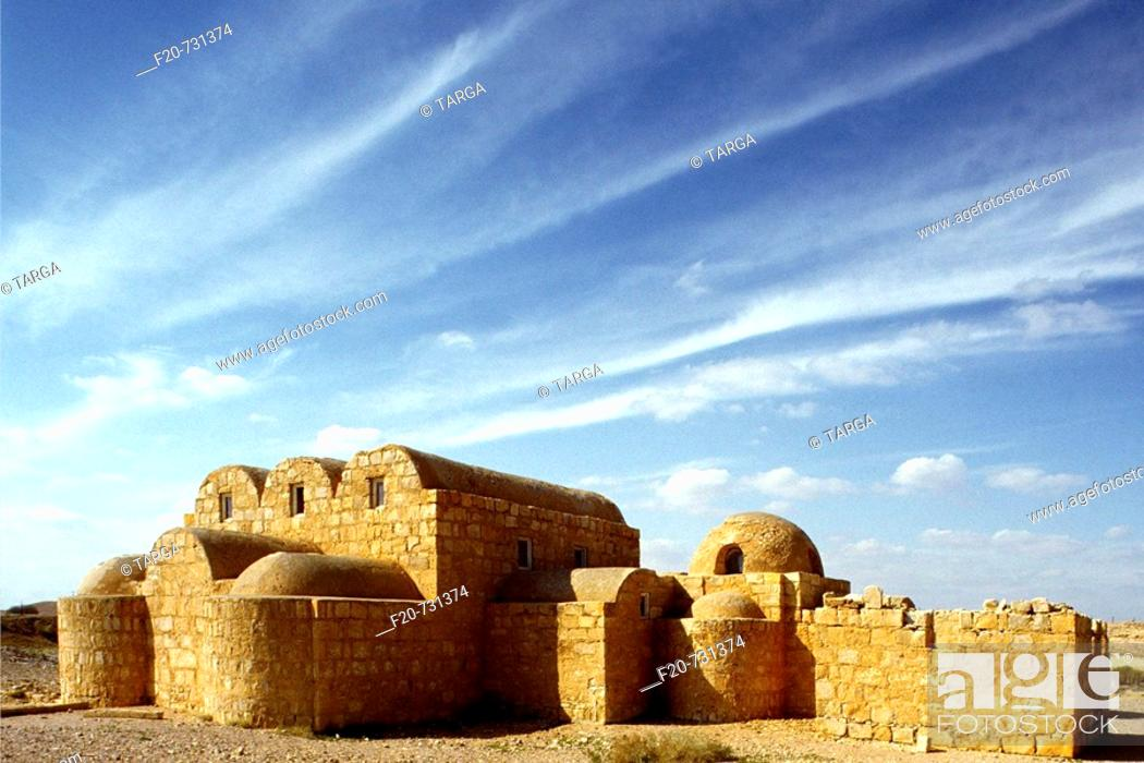 Stock Photo: Qasr Amra desert castle, Jordan.