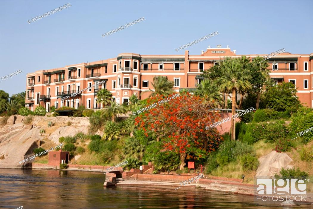 Imagen: Traditional Hotel Old Cataract at Nile River, Aswan, Egypt.