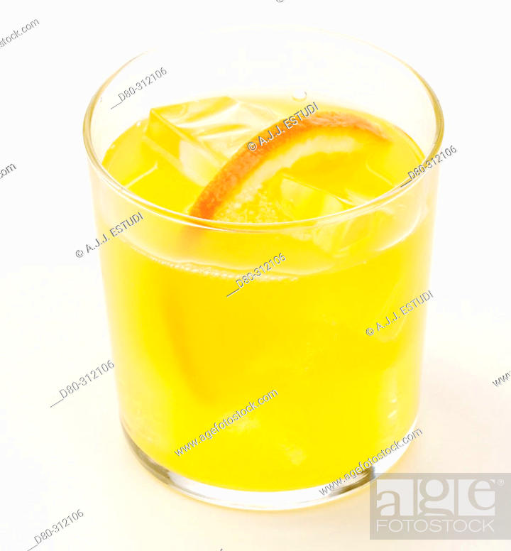 Stock Photo: Orange soft drink.