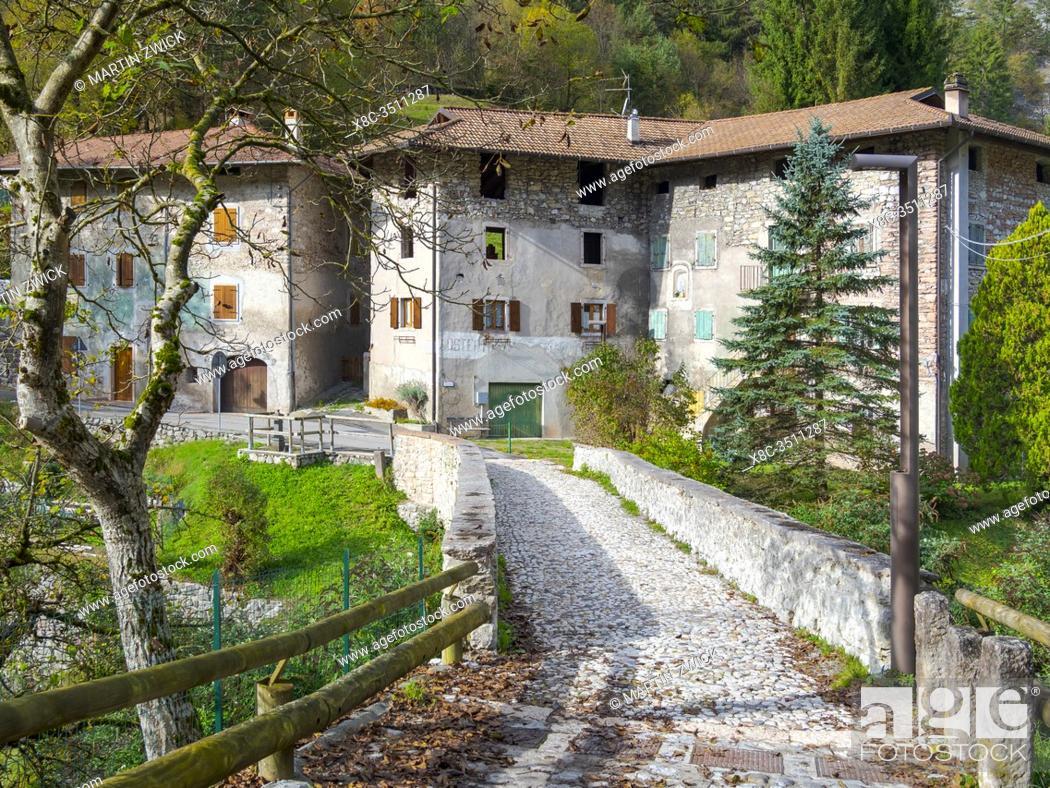 Stock Photo: Moline near San Lorenzo in Banale in the Dolomiti di Brenta. Europe, Italy, Trentino.