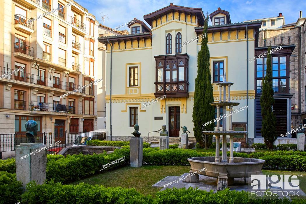 Stock Photo: Menendez Pelayo's birthplace, Biblioteca de Melendez Pelayo Library, Santander, Cantabria, Spain, Europe.