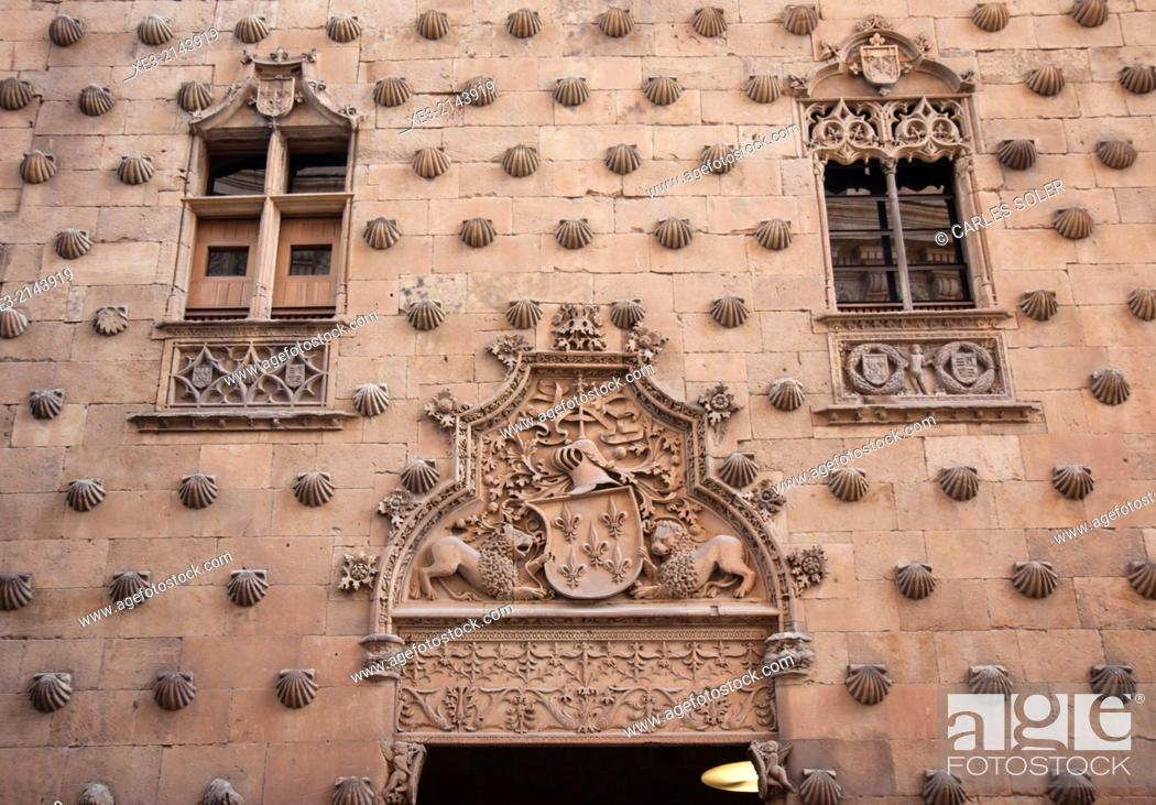 Stock Photo: Casa de las Conchas, Salamanca.