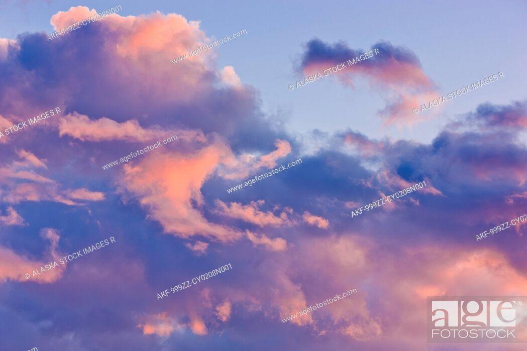 Stock Photo: Sunset light on clouds.