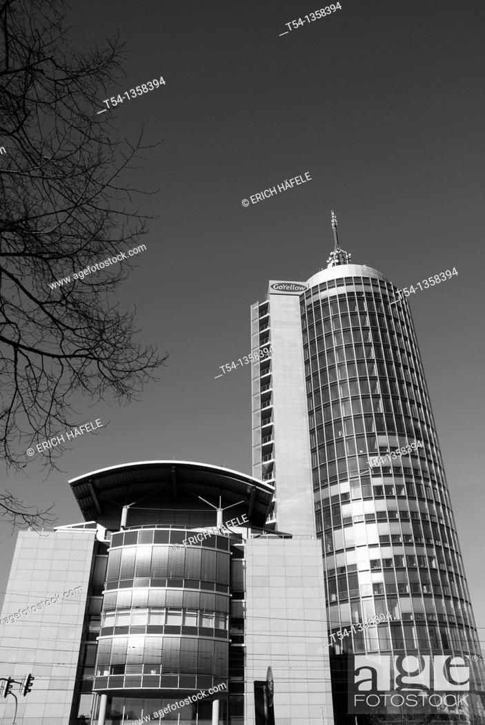 Stock Photo: City Tower in Munich.