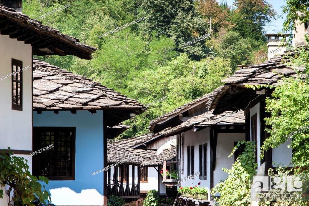 Stock Photo: Houses, Etar, Architectural-еthnographic complex, Gabrovo, Bulgaria.
