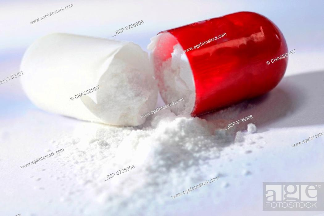 Stock Photo: A CAPSULE-FORM DRUG.