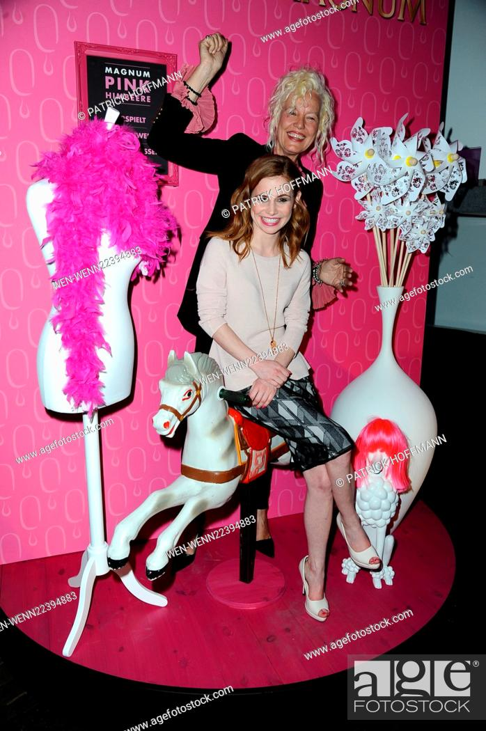 Stock Photo Vernissage Of Magnum Moments In Pink And Black At Me Collectors Room Mitte Featuring Ellen Von Unwerth Josefine Preuss Where