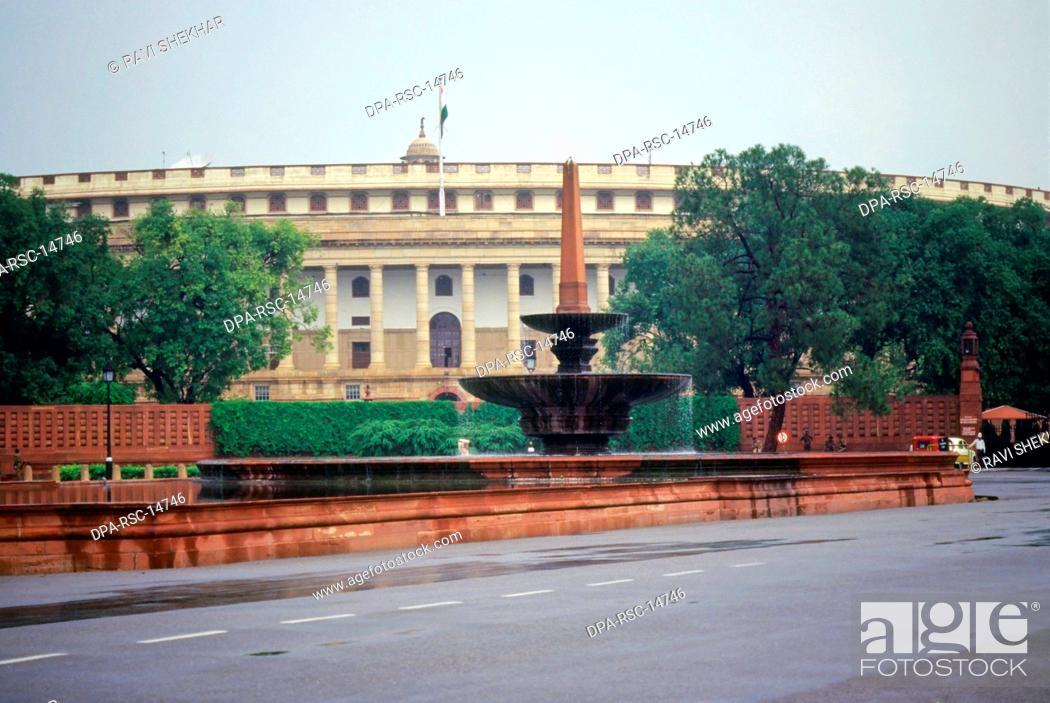 Stock Photo: Parliament House, New Delhi, India.