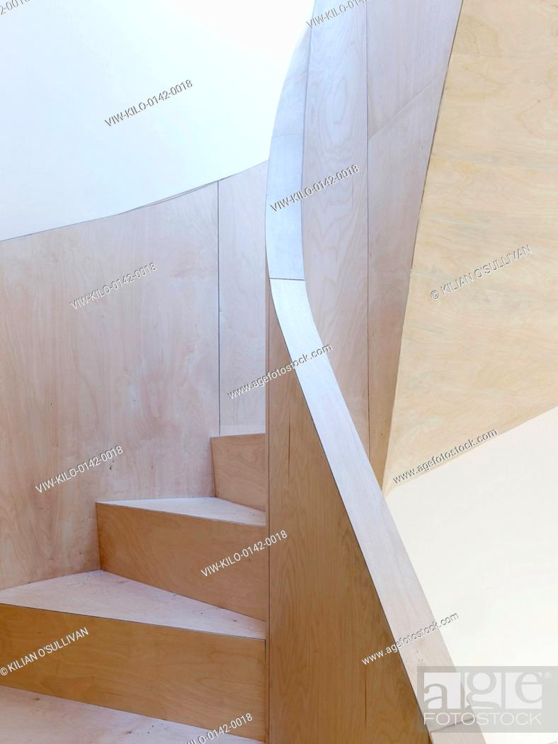 Stock Photo: Stair. Fitzrovia Mews, London, United Kingdom. Architect: Norton Ellis Architects, 2014.