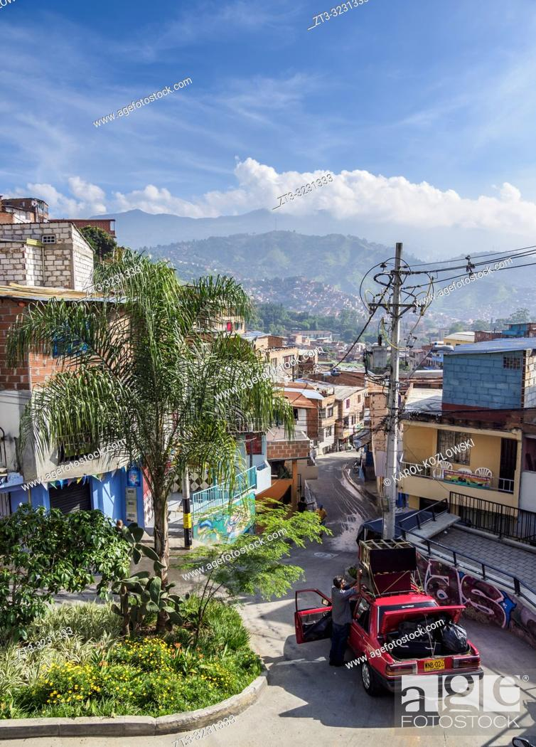 Stock Photo: Comuna 13, Medellin, Antioquia Department, Colombia.
