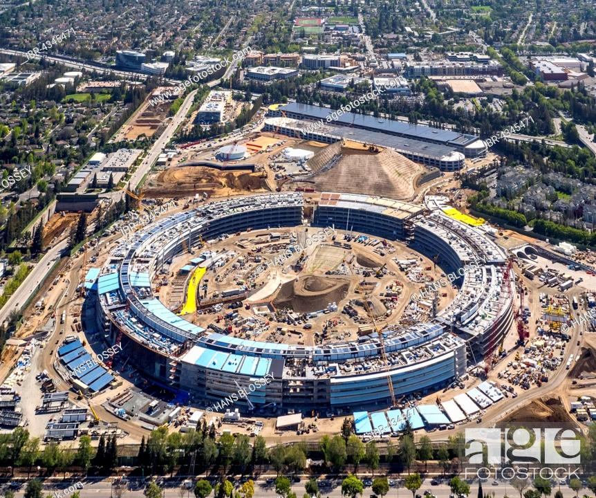 Norman foster office Industrial Stock Photo Huge Construction Site Office Building Apple Campus Ii Or Apple Campus Or Ac2 Architect Norman Foster Cupertino Silicon Valley Archdaily Huge Construction Site Office Building Apple Campus Ii Or Apple
