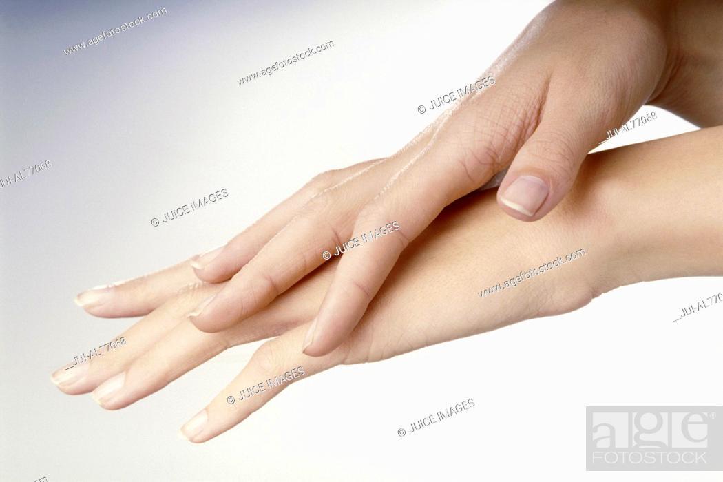 Stock Photo: Portrait of a woman's hands.