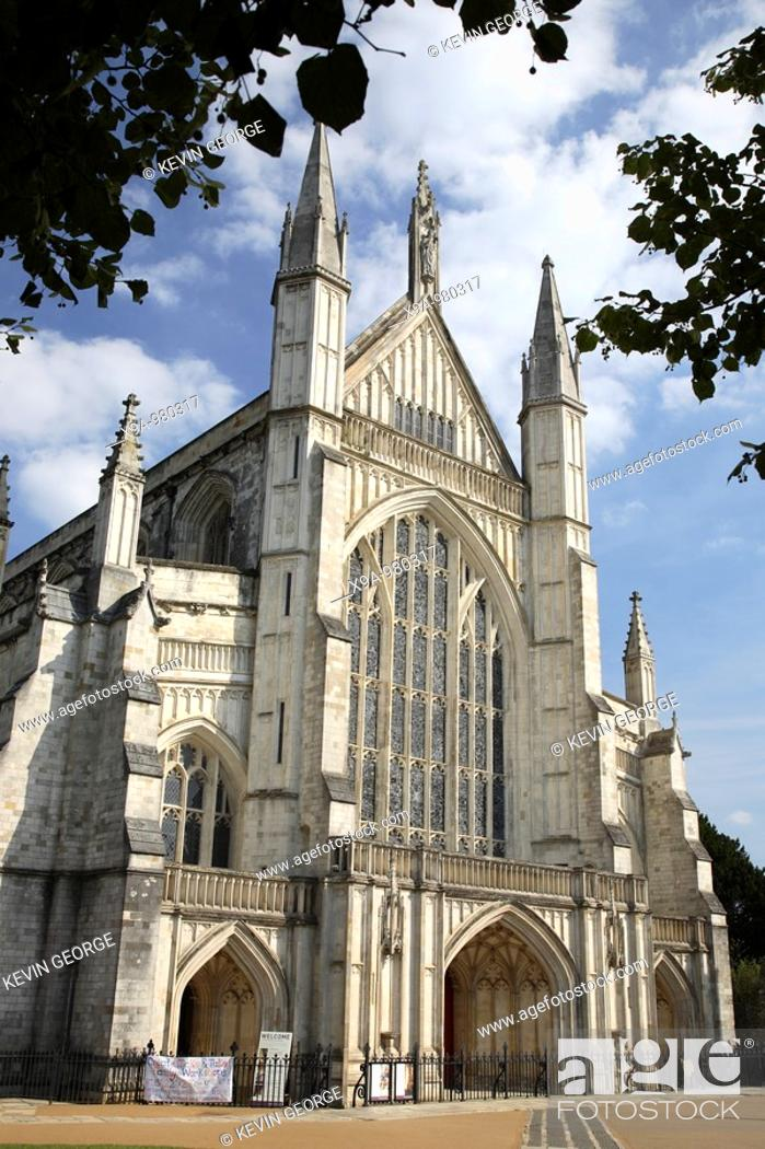 Stock Photo: Winchester Cathedral, Hampshire, England, UK.