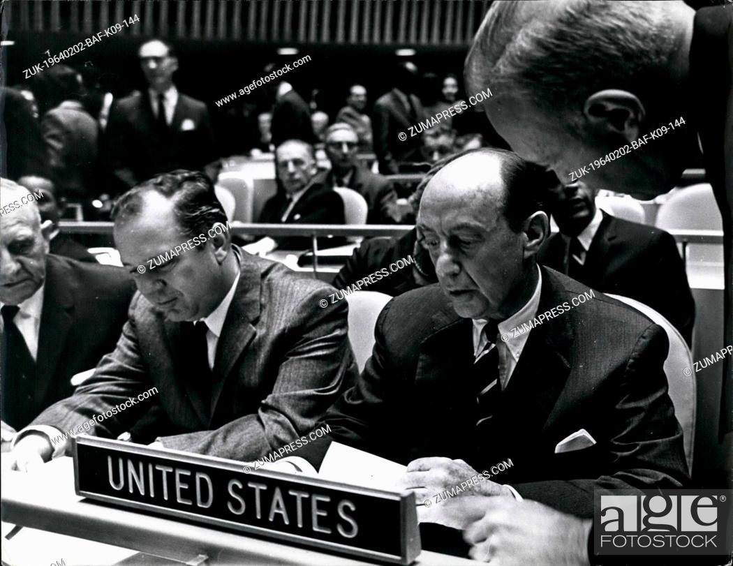 Feb 02 1964 Payments Clash In Un Postponed By A Last Minute