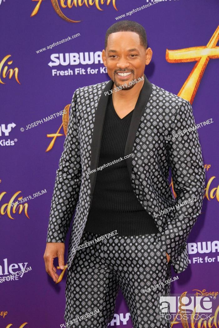 "Imagen: Will Smith at The World Premiere of Disney's """"Aladdin"""" held at El Capitan Theatre, Hollywood, CA, May 21, 2019. Photo Credit: Joseph Martinez / PictureLux."