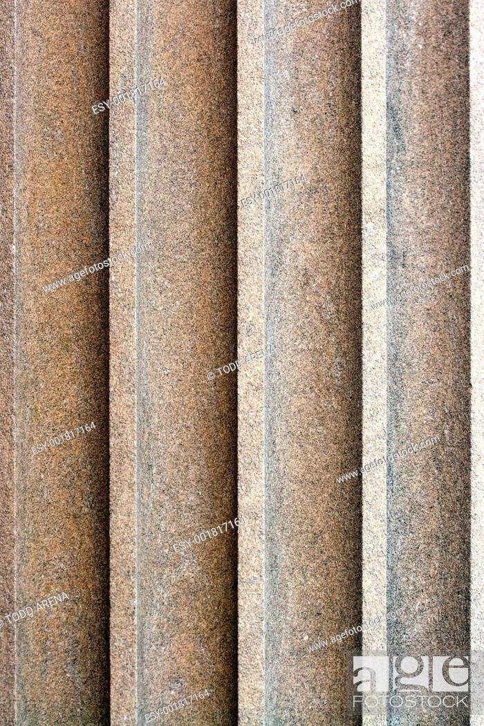 Stock Photo: Old Stone Column.