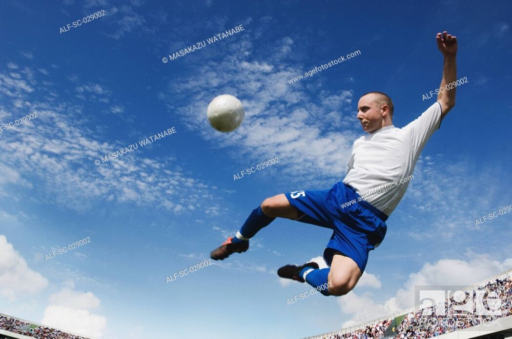Stock Photo: Soccer Volley.