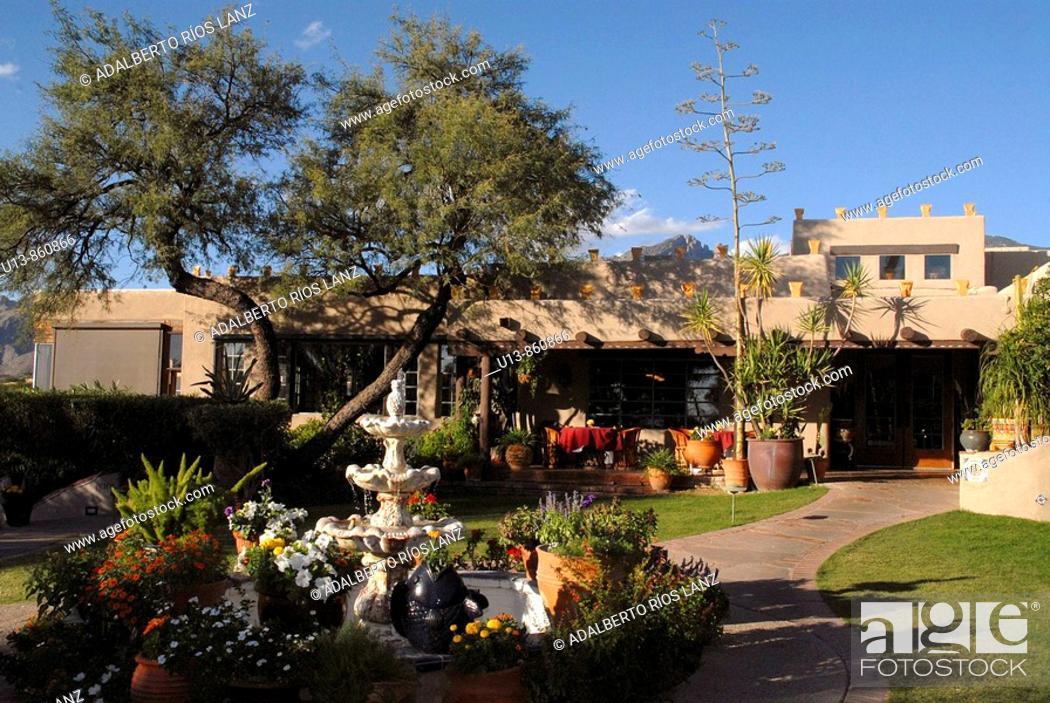 Stock Photo: Hacienda del Sol Guest Ranch Resort, Tucson, Arizona, United States.